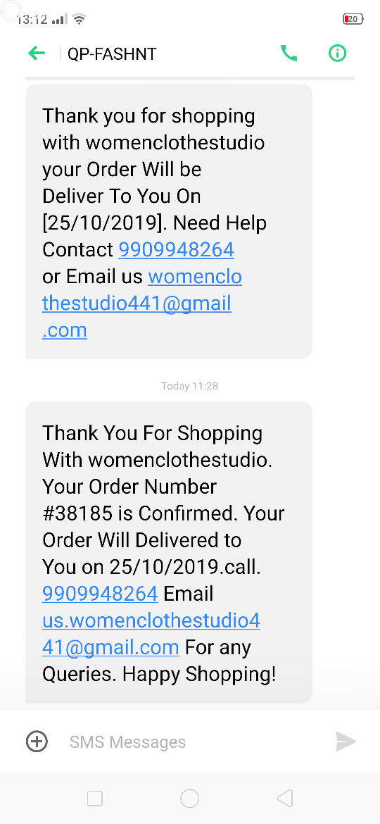 Womenclothestudio Complaints - consumercomplaintonline.in
